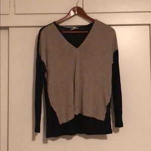 Madewell Tan and Black color block long sleeve M